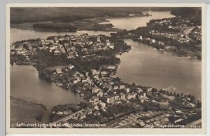 101134-Foto-AK-Lychen-Panorama-Luftbild-Sonderstempel-1939