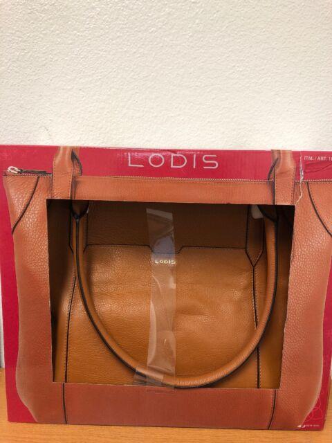68809de82 LODIS Kiera Leather Tote Bag Black Fit Over Luggage Handle Authentic ...