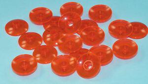 LEGO-20-x-Radar-Sat-Schuessel-2x2-transneon-orange-4740-NEUWARE-e15