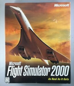 Microsoft-Flight-Simulator-2000-Brand-New-Old-Stock-Sealed-New-in-Big-Box-X