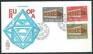 1969 Vaticano Fdc Venetia 104 Europa No Timbro Arrivo - Sv5