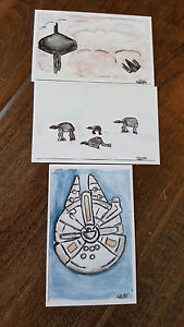2016-STAR-WARS-CELEBRATION-EUROPE-PLANETE-FRANCE-PROMO-CARD-SET-OF-3-FALCON