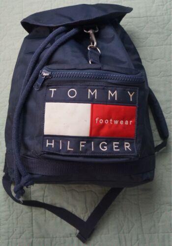 Rare VTG TOMMY HILFIGER Footwear Spell Out Flag Kn