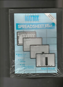 New-Sealed-MATRIX-SPREADSHEET-PLUS-On-3-Inch-Disc-For-The-AMSTRAD-CPC-Computers