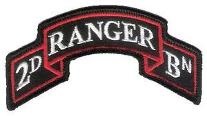New-Hook-amp-Loop-Modern-US-2nd-Ranger-Battalion-Scroll-3-7-8-034-x-2-034-Merrowed