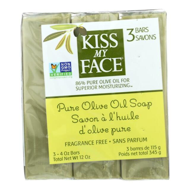 Kiss My Face, Naked Pure Olive Oil Bar Soap Value Pack, 3