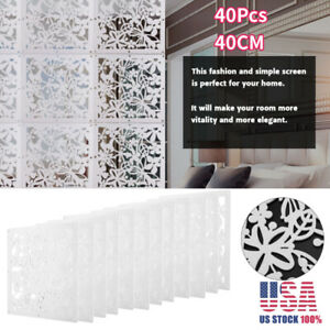 Details About 12pcs Diy Room Divider Hanging Wall Panels Decor Plastic Screen Partition 40cm