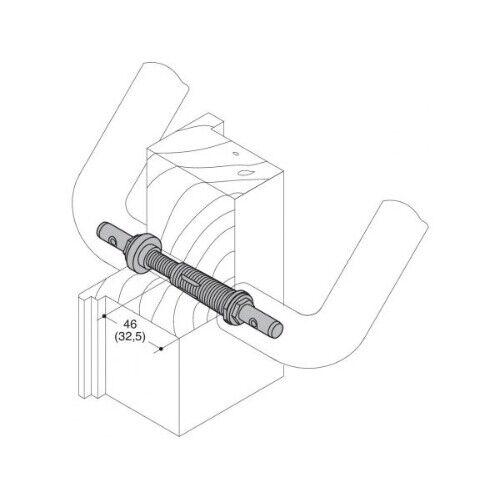 HEWI Befestigung BA 5.1.70.85 Holz//Kunststoff //Alu TS70-85mm
