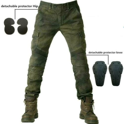 Men Motorcycle Jeans Combat Pants Denim Biker Army Slim Fit Biker Punk Trousers