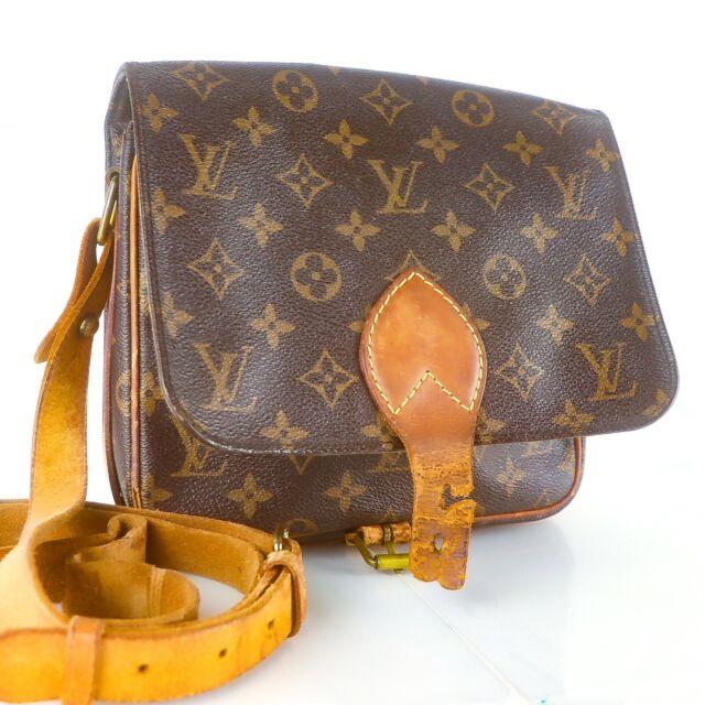 LOUIS VUITTON CARTOUCHIERE MM Crossbody Shoulder Bag Monogram M51253 JUNK