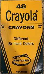 Vintage Crayola Crayons Binney and Smith NOS Different Brilliant Colors Pack 48