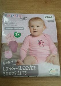 LUPILU Baby Long-Sleeved Body Suits 2 Pack Comfortable Skin Friendly 100/% Cotton