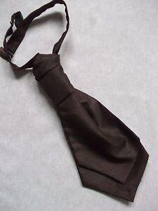 GéNéReuse Garçons Cravate Mariage Cravate Formelle Parti Froncée Pré Attaché 4-10 Ans Marron Chocolat-afficher Le Titre D'origine
