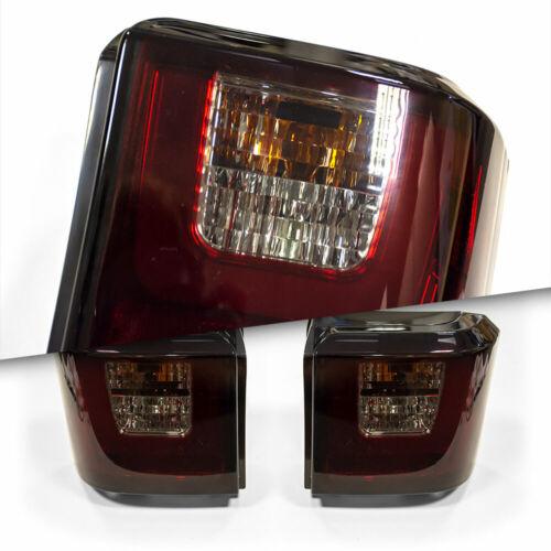 VW T4 TRANSPORTER 90-03 TWIN DOOR TAILGATE DARK TINT SMOKED LED REAR TAILLIGHTS