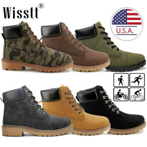 Men-039-s-Waterproof-Martin-Boots-Outdoor-Leather-Hiking-Lace-up-Casual-Ankle-Shoes