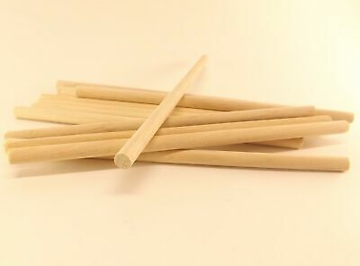 """10 Pack 1//4/"""" x 6/"""" Short Natural Birch Wood Dowel Rods Cake TiersWood Crafts"""