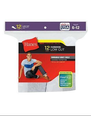 Hanes Ultimate Men/'s Extra Low-Cut Sock 6-Pack Shoe Size 6-12 Black