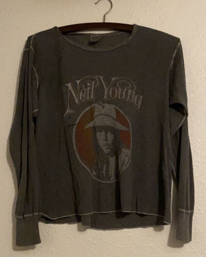 Vintage Bootleg Neil Young Harvest Thermal Tee L