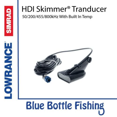 Lowrance HDI Skimmer transducer 50//200//455//800 with built in temp.