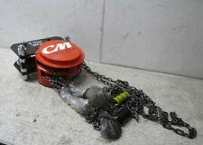 Cm Cyclone 4544 1 Ton Hand Chain Hoist On Gear Trolley 10 Ft Lift