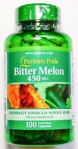 450mg-Bitter-Melon-100-Capsules-Momordica-Fruit-Blood-Kidney-Liver-Support-PP