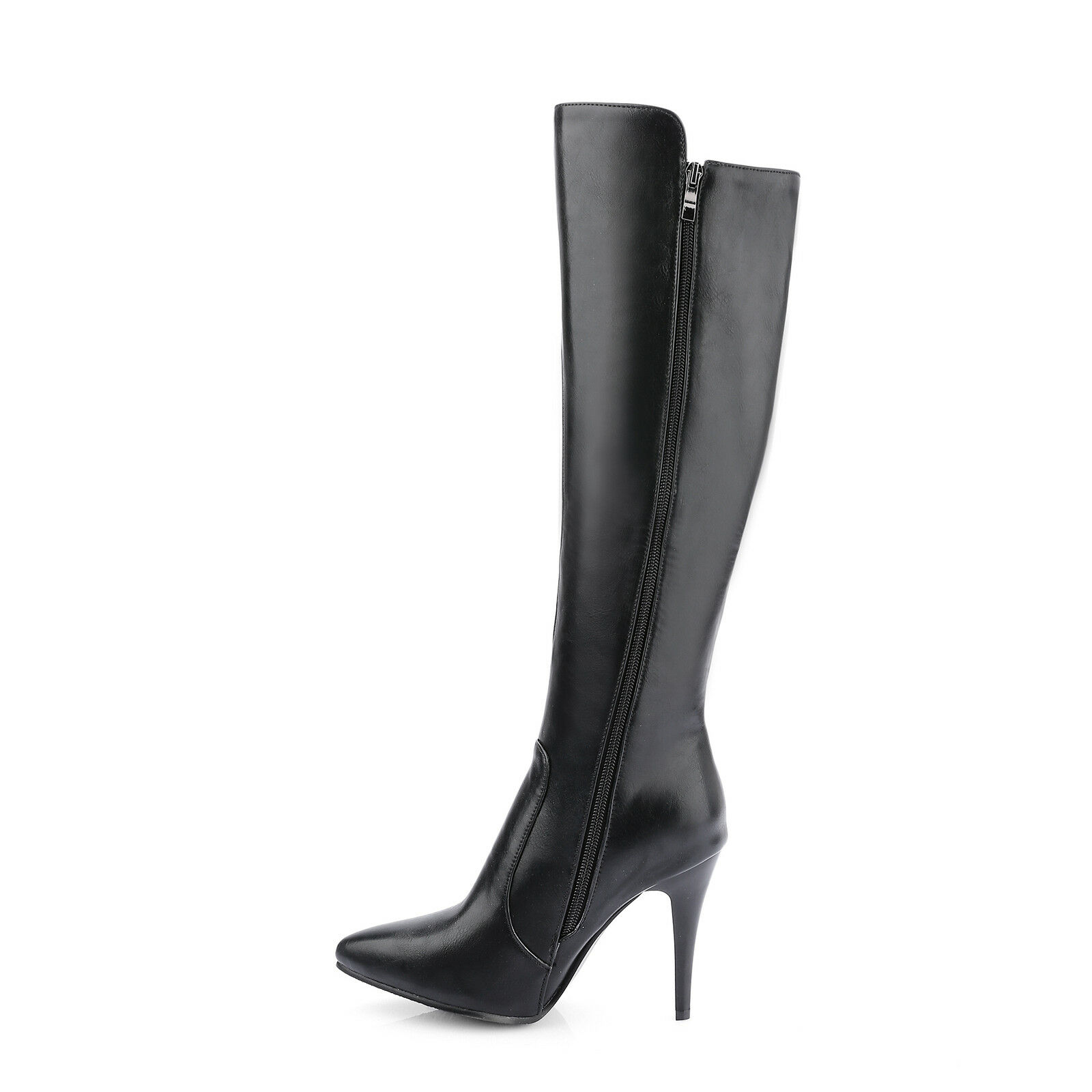 Womens Party shoes Synthetic Leather High Heels Zip Over Knee Boots UK Size b082