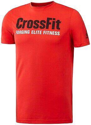 Herren Neu Reebok Crossfit Logo T Shirt Training Top rot