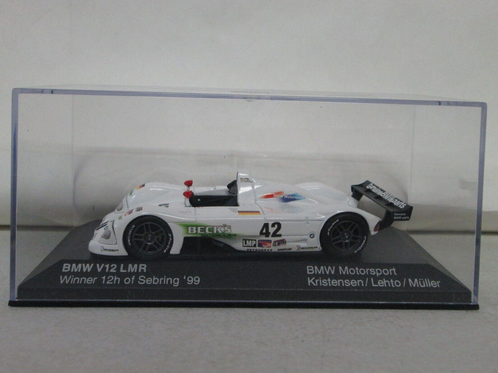 Minichamps BMW V12 LMR 12h of Sebring '99 BMW Motorsport Kristensen Lehto Muller
