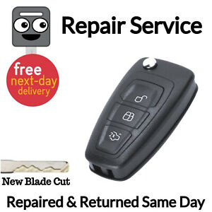 Details about Ford Transit Custom Van Flip Key Fob Remote Repair Fix  Service Case+ New Battery