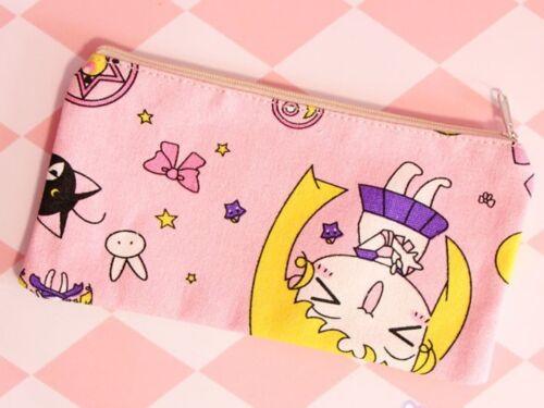 Sailor Moon Rose Toile Crayon Stylo Sac A Main Maquillage Sacs ANIME NEW
