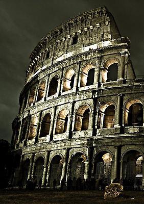 Roman Coliseum 01 Poster A3 Coliseo Romano Italia