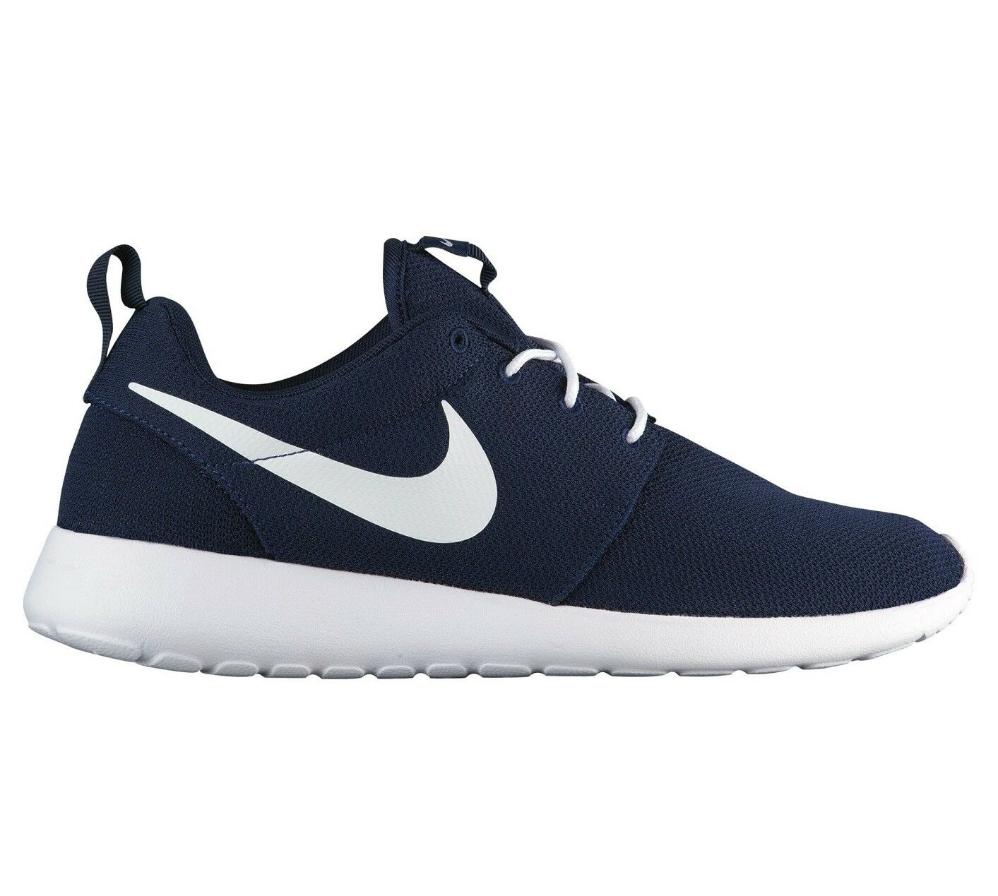 Nike Roshe One Mens 511881-423 Obsidian Blue White Mesh Running Shoes Comfortable