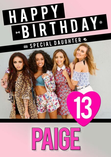 Little Mix Personalised Birthday Card Daughter Niece ANY NAME AGE RELATIVE