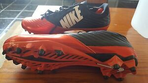 NEW MENS NIKE VAPOR SPEED LOW TD #643152-800 ORANGE FLASH/BLACK FOOTBALL CLEATS