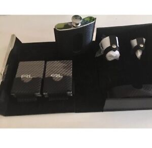 Ralph Lauren Sutton Leather Flask Set MSRP $695 FREE SHIPPING