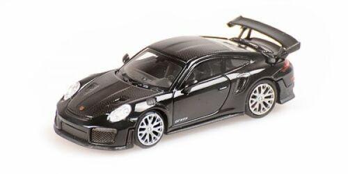 1//87 Minichamps Porsche 911 gt2 RS 2018 Black w//carbon Stripes 870068120