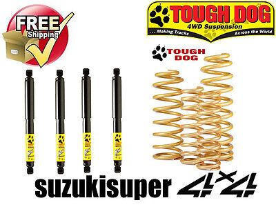 "2.5"" 60mm Suspension Lift Kit Suzuki Jimny SN413 JB Springs HD Shocks Tough Dog"
