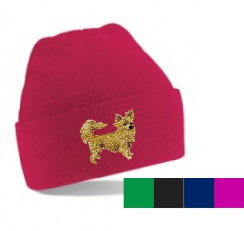 Chihuahua Longcoat Beanie Hat Perfect Christmas Gift Embroidered by Dogmania