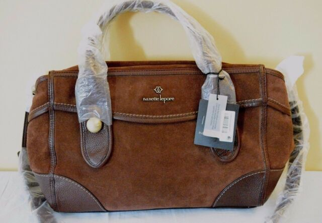 Nanette Lepore Women S Waverly Satchel Suede Brown 298
