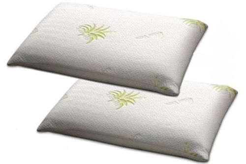 Two Pillowcases Pillowcase for Pillow h12//13 Removable Zip Liner Aloe Vera