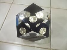 Vintage Unique Canada 1972 Lincoln Penny Lucite Cube Paperweight Encased Coin