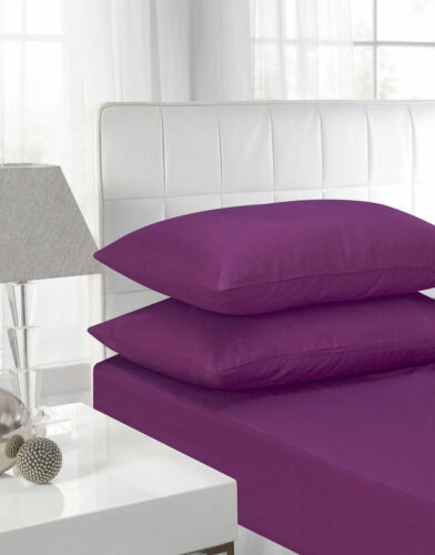 """100/% Egyptian Cotton 40CM//16/"""" Deep Fitted Sheets Single Double King Super King!"""