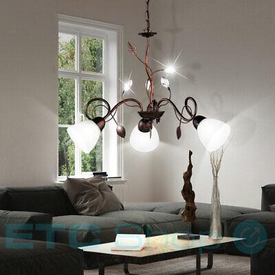 LED Landhaus Stil Tisch Beleuchtung Wohn Ess Zimmer Lese Lampe Blätter Ranken
