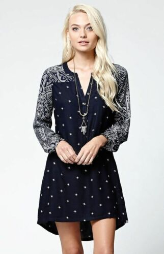 Element Fall Leaves Long Sleeve Dress Size Medium BL10