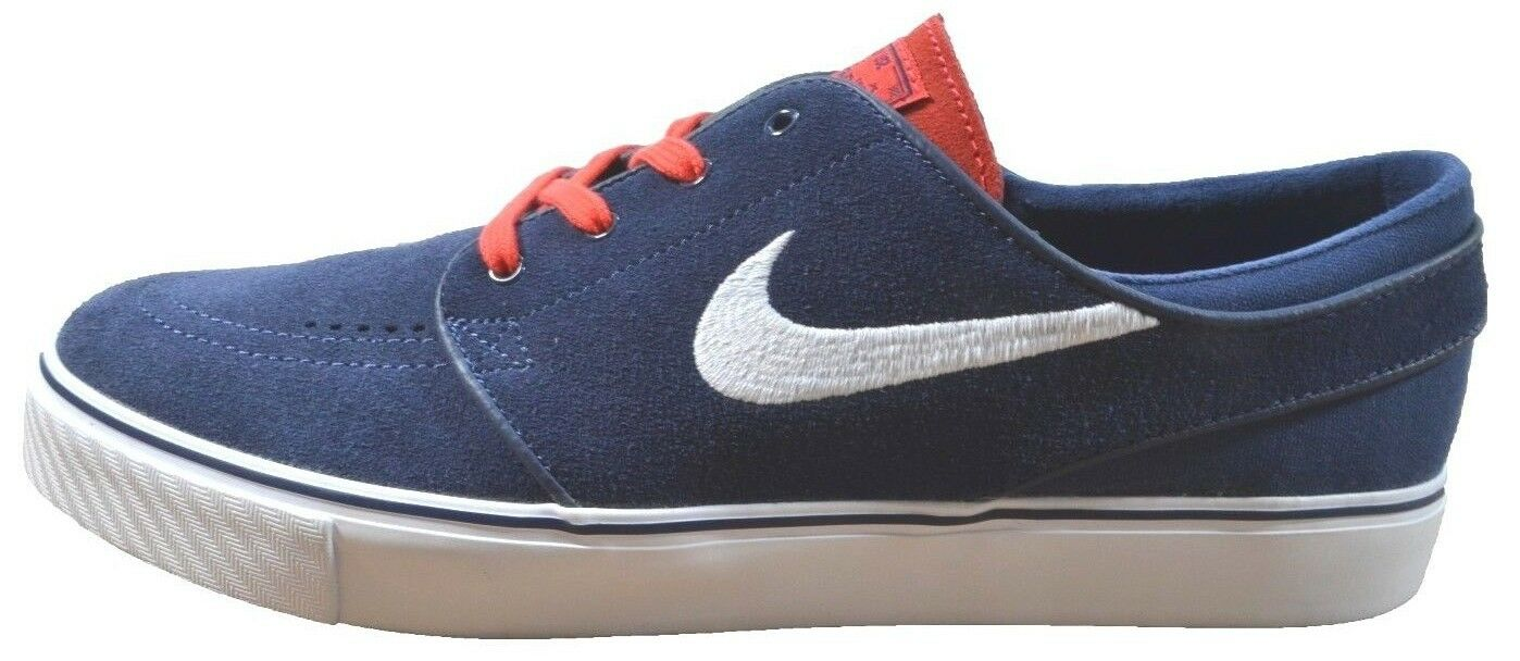 Nike ZOOM STEFAN JANOSKI Midnight Navy White 333824-417 Skate (376) Men's Shoes