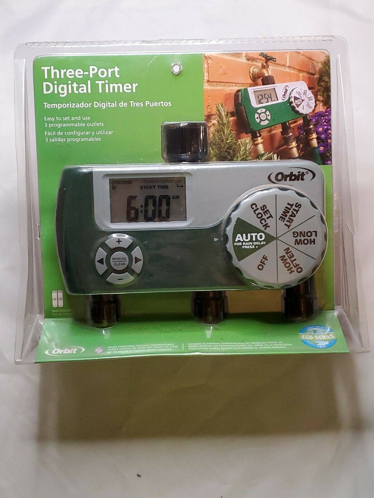 Orbit 56497 Three (3) Port Programmable Digital Easy To Use Watering Timer (New)