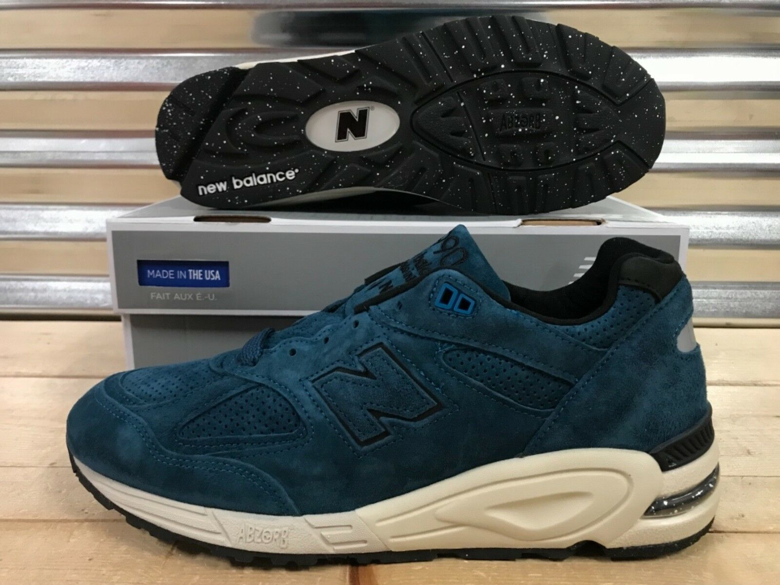 New balance 990 north color spectrum north 990 sea blue suede made in usa sz (e) eaa74d