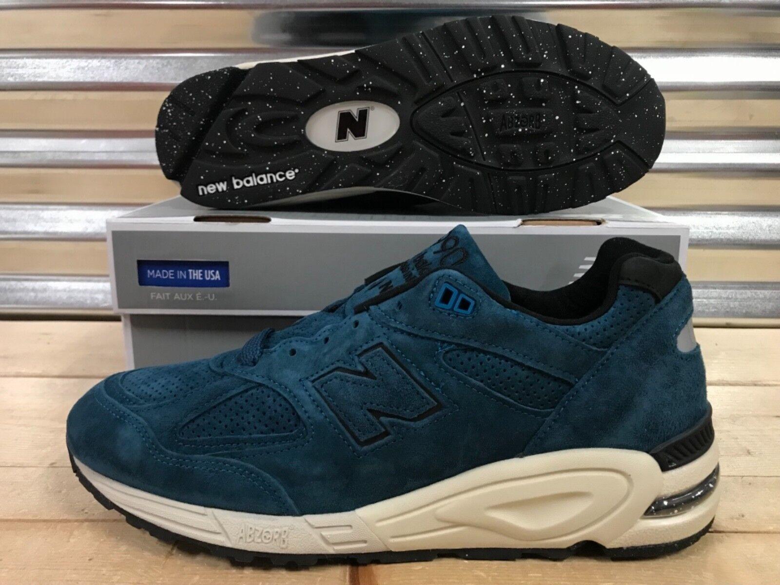 New Balance 92018 Color Spectrum North Sea Sea North Bleu Suede Made In USA SZ ( M990CR2 ) 54ebe1