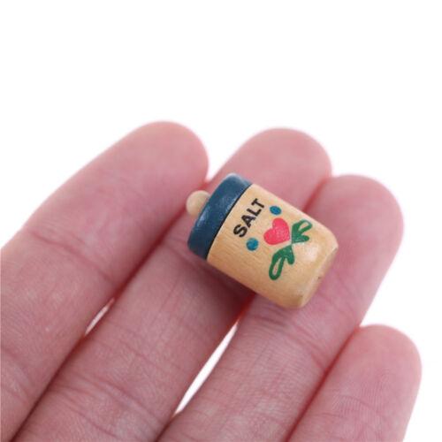 1:12 Dollhouse Miniature Pocket Scene Custom Wood Seasoning pot Accessories LL