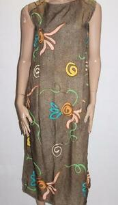 Unbranded-Brown-Printed-Sleeveless-Summer-Midi-Dress-Size-XS-BNWT-TA56